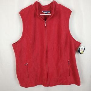 Karen Scott Plus Size Vest Red Size 2X